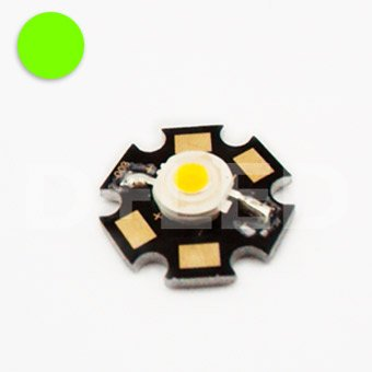 3W High Power LED Chip - Green - DC3.55V input - 700mA output - Star - Component - Ultra Bright - Powerchip Module - Electronic Part - Flood Light Reflector Street Energy Saving Lamp
