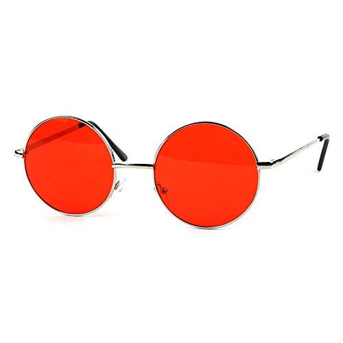 POP Fashionwear Unisex P2012 John Lennon Hippie Retro Sunglasses Silver - Hombre Sol Lentes De