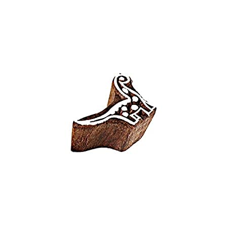 Hashcart Baren for Block Printing Stamps//Wooden Stamping Block//Handcarved Designer Craft Printing Pattern for Saree Border,Henna//Textile Printing,Scrapbooking,Pottery Crafts /& Wall Painting,Set of 6
