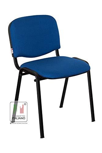 Stil Sedie Sedia Attesa Ufficio Sala Conferenze poltrona Venere tessuto 1.IM UNI 9175:2008 colore ROSSO