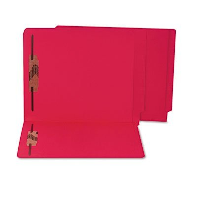 - SJPS13643 - Colored Reinforced End Tab File Folders with Fasteners