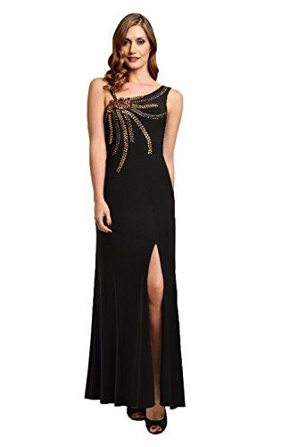 Bronze Eine Black Damen Schwarz Dynasty Schulter Kleid 5UxqwSaYP