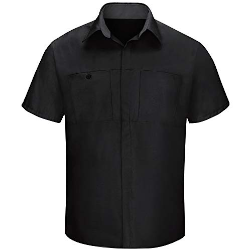 Red Kap Men's Short Sleeve Performance Plus Shop Shirt with OilBlok Technology