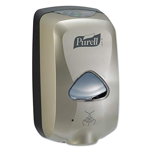 PURELL TFX Hand Sanitizer Touch Free Dispenser, Nickel Finish, Dispenser for 1200 mL PURELL TFX Sanitizer Refills - 2780-12