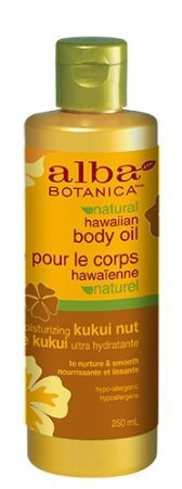 Alba Botanica Kukui Nut Organic Hawaiian Body Oil, - Kukui Cream Nut Hawaiian Body