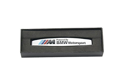 Angel Mall BMW Motorsport Edition 3M Side Shield Metal Mark Plate Emblem Badge 2-pcs Set