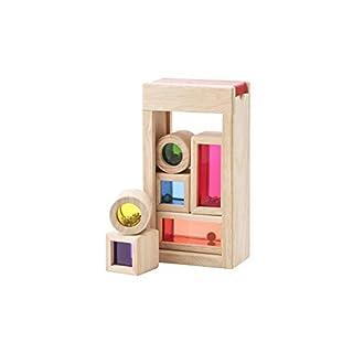 Wonderworld Rainbow Sound Blocks - Stackable Hollow Shape Block Toys - 7 Piece Set