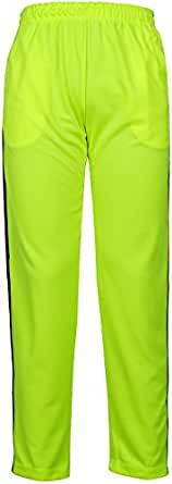 Angel Cola Men's Retro Stripes Training Track Pant Fluorescent Green 2XS