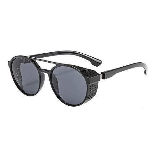 Steampunk Sonnenbrillen Damen Herren Retro Brille Retro Round Flip Up Europäischen und Amerikanischen Trend Street Foto Alle passenden Gläser (Retro Sonnenbrille Damen)