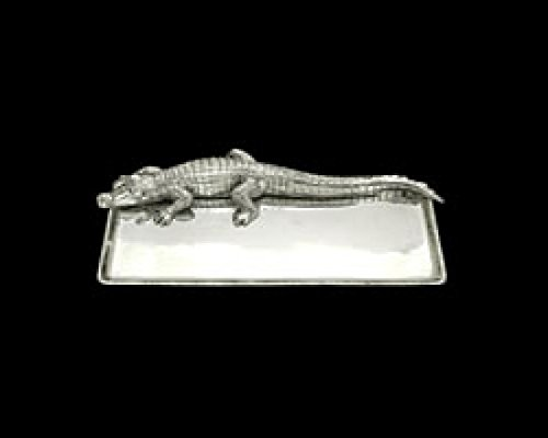 (Arthur Court Designs Aluminum Alligator Tray 9