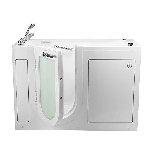 Ella's Bubbles OA2660-L Lounger Soaking Walk-In Bathtub with Left Outward Swing Door, Thermostatic Faucet, 2