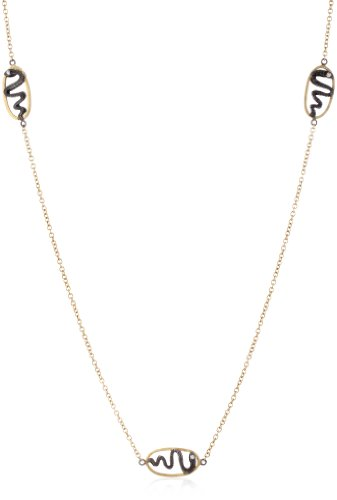 "Sara Weinstock ""Universal Love"" Gold Snake Component Chain Necklace"