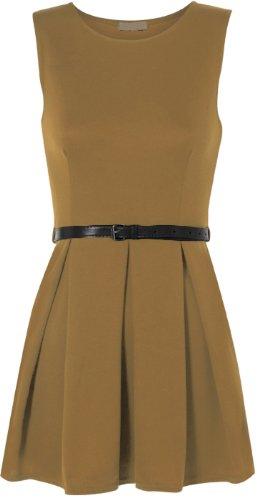 Femme 42 courte robe Mini manche Moka 36 Tailles Hauts ceinture avec WearAll BZA0qxv