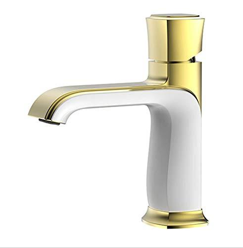 E ROKTONG Faucet Antique Basin Faucet Hot And Cold Wash Basin Basin Bathroom Toilet Mixing Valve, F