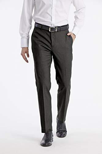 Calvin Klein Men's X Performance Slim Fit Flat Front Dress Pant, Grey, 36W x 34L