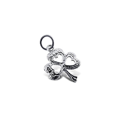 Sterling Silver 925 Authentic Three Leaf Clover Charm