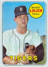 1969 Topps Regular (Baseball) Card# 270 mickey lolich of the Detroit Tigers Ex Condition by Topps