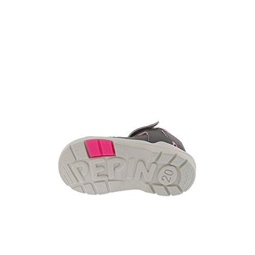 Ricosta Mädchen Gery Geschlossene Sandalen mit Keilabsatz graphit/candy