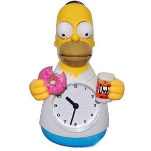 (Homer Simpson Animated Clock - Simpsons Wall Clock )