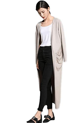 Women's Winter Long Cardigan Open Front Sweater Cashmere Wool Sweater Cardigan Set with Scarf Irregular Hem Design (One Size, 1269 Camel)