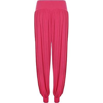 Women's Plus Size Plain Harem Trousers Pants: Clothing