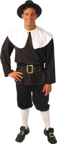 Alexanders Costumes Men's Pilgrim Man, Black Medium ()