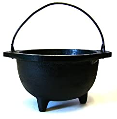 Cast Iron Cauldron w/handle, ideal for s...