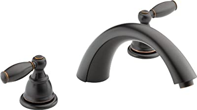 Peerless PTT298696-OB Apex Two Handle Roman Tub Trim, Oil Rubbed Bronze (R2700 Valve Not Included)