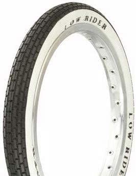 "Lowrider Tire Duro 16"" x 1.75"" Black/White Side Wall HF-120A. Bicycle tire, Bike tire, Kids Bike tire, Bike tire, BMX Bike tire"