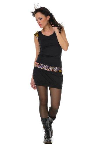 Party Summer Dress black Mini 3Elfen Sleeveless colour Ball Woman Clubwear Dress 0x1d4q4