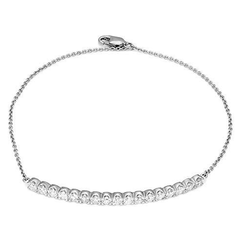 (100% Real Diamond Bracelet Luxury Bar Bracelet 1ct IGI Certified Lab Grown Diamond Bracelet For Women Lab Created Diamond Rings SI-FG Quality 10K Gold Real Diamond Band Ring (Jewelry Gifts)