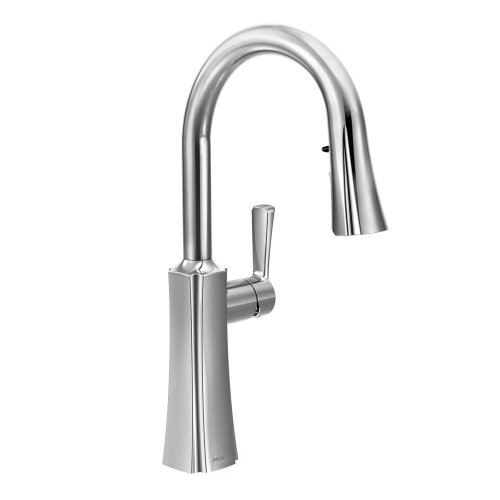 Moen S72608 Etch One-Handle High Arc Pulldown Kitchen Faucet Featuring Reflex, Chrome