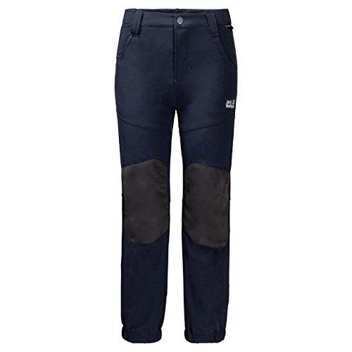 Jack Wolfskin Rascal Winter Pants, Midnight Blue, Size104(3-4) (Wind Pants Microfiber)