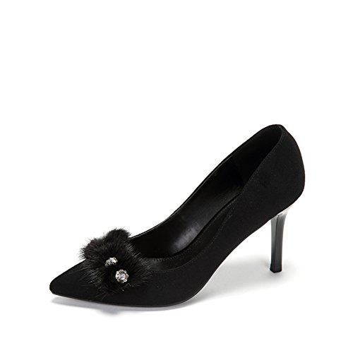 PUMPS Lady Pointed Shoes,Asakuchi Fußlänge=22.3CM(8.8Inch)