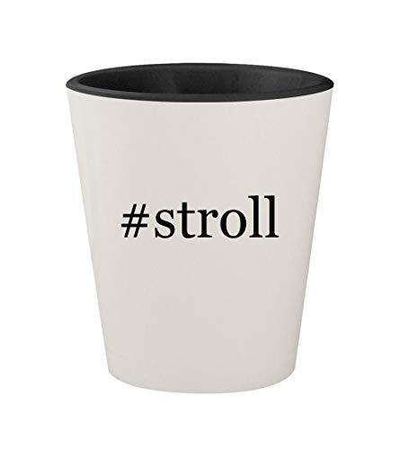 #stroll - Ceramic Hashtag White Outer & Black Inner 1.5oz Shot Glass