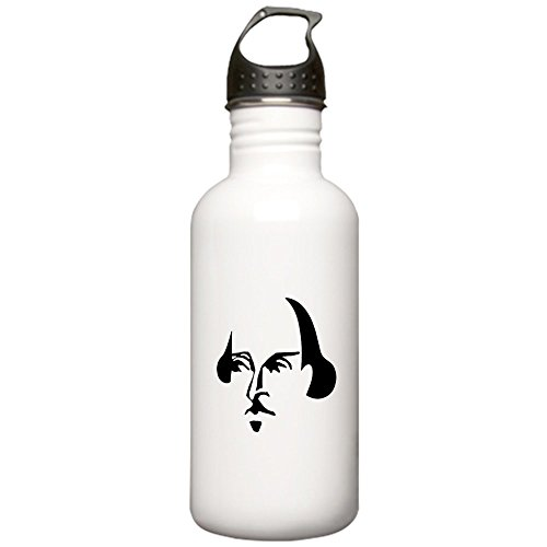 - CafePress - Simple Shakespeare Stainless Water Bottle 1.0L - Stainless Steel Water Bottle, 1.0L Sports Bottle