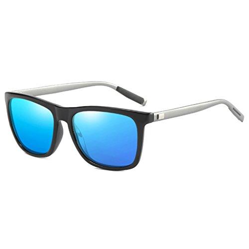 de Colorido de Magnesio de Unisex Aleación Ultra Azul Memoryee Lentes Aluminio Protector UV400 Sol Polarizadas Light Marco Rectángulo de Gafas 4vw5q