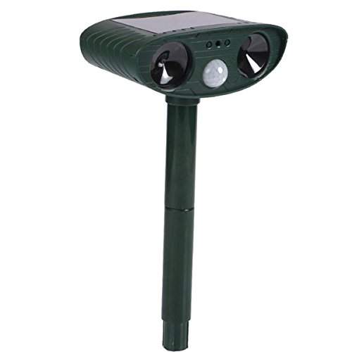 Chinis HG-GA5 GreatHouse Ultrasonic Solar Power Cat Dog Repeller Outdoor Garden Animal Scarer by Chinis (Image #2)