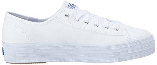 Keds Womens Triple Kick Canvas Fashion Sneaker White PZ2nEa4Ch
