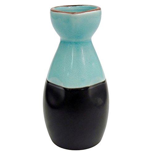 CAC 666-WP-BLU Japanese Style 6 oz. China Sake Bottle - Lake Water Blue - 36/Case