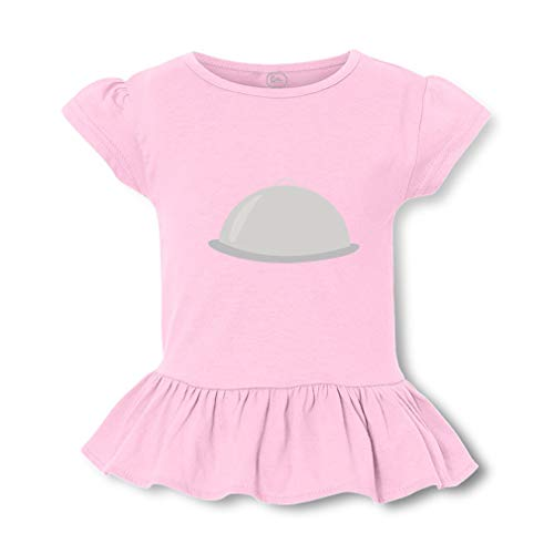 (Food Tray Short Sleeve Toddler Cotton Girly T-Shirt Tee - Soft Pink, Small)
