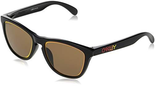 Oakley Men's Frogskins (a) Non-Polarized Iridium Rectangular Sunglasses, Matte Black, 54.5 ()