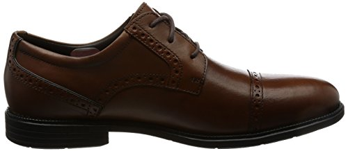 cap Derby Uomo Toe Rockport Scarpe Tan Madson Marrone Stringate g5XqO