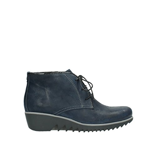 Oiled Womens 50800 Leather Dusky Boots Blue Winter Wolky Dark 4wq87nF