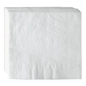 AmerCare 16.5'' x 16.5'' White 3-Ply Dinner Napkins, Case of 2000 by AmerCare (Image #1)