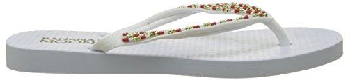 Blanc Moon Weiß für Banana Flipflops Frauen Aufstiegs 001 T1fwWYqS
