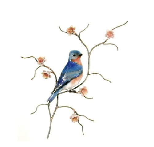 Bovano - Wall Sculpture - Male Bluebird, Single Facing Right