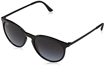 Ray-Ban Men's Injected Man Round Sunglasses, Black, 53 mm