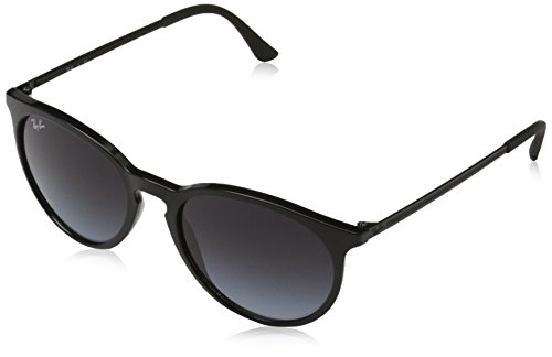 Ray-Ban Men's Injected Man Round Sunglasses, Black, 53 - Ray Ban Black Round