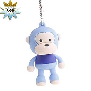 8gb mono estilo USB Flash Drive (azul)
